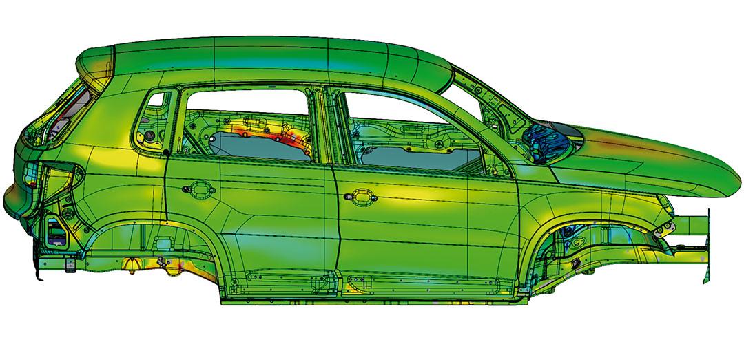 automatizirano 3D mjerenje karoserija